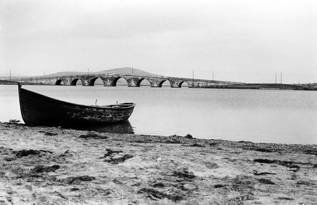 The bridge at Büyükçekmece, Turkey, which Bahá'u'lláh and His companions crossed on their way   from Constantinople to Adrianople in December 1863.